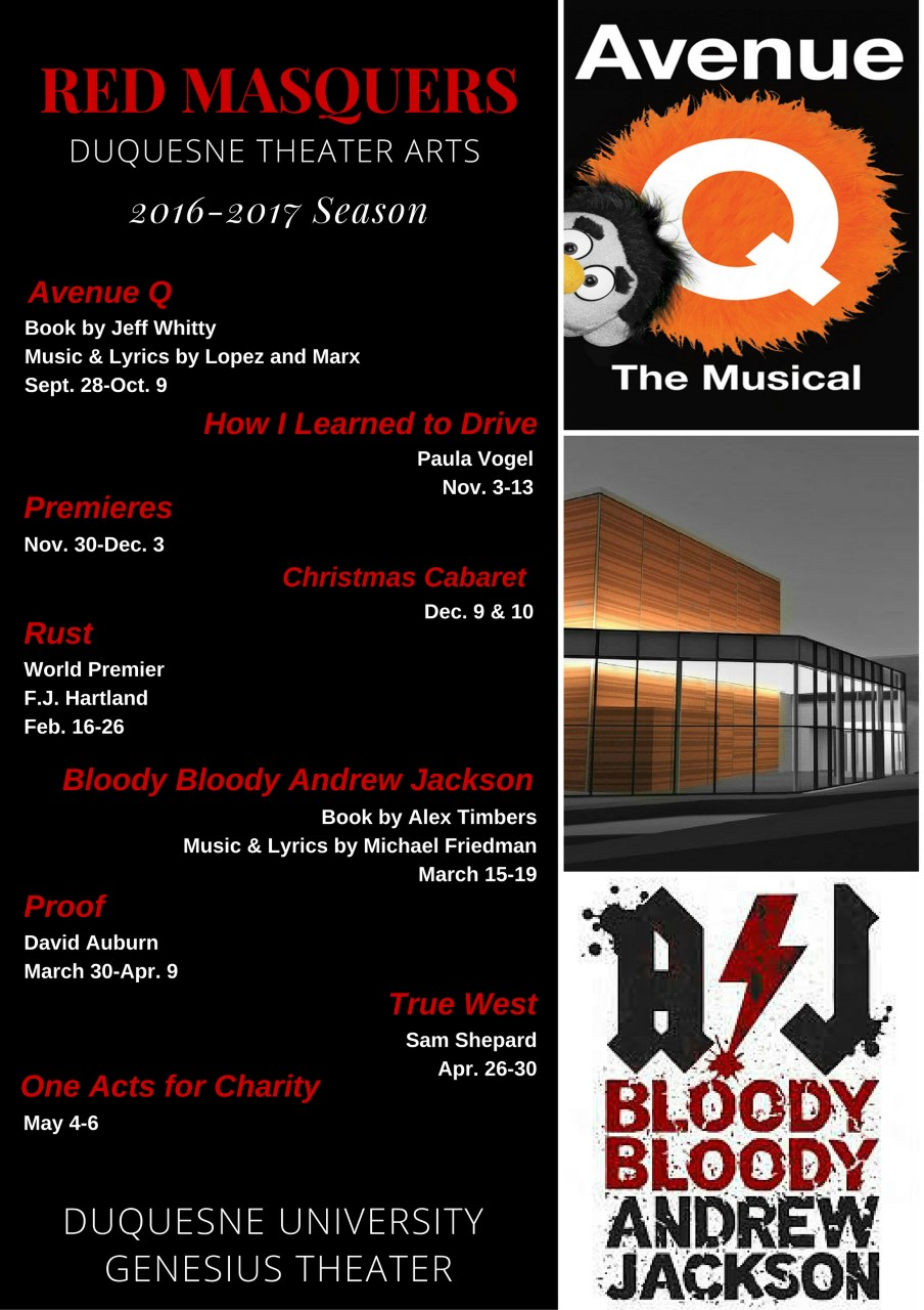 Red Masquers 2016 Schedule
