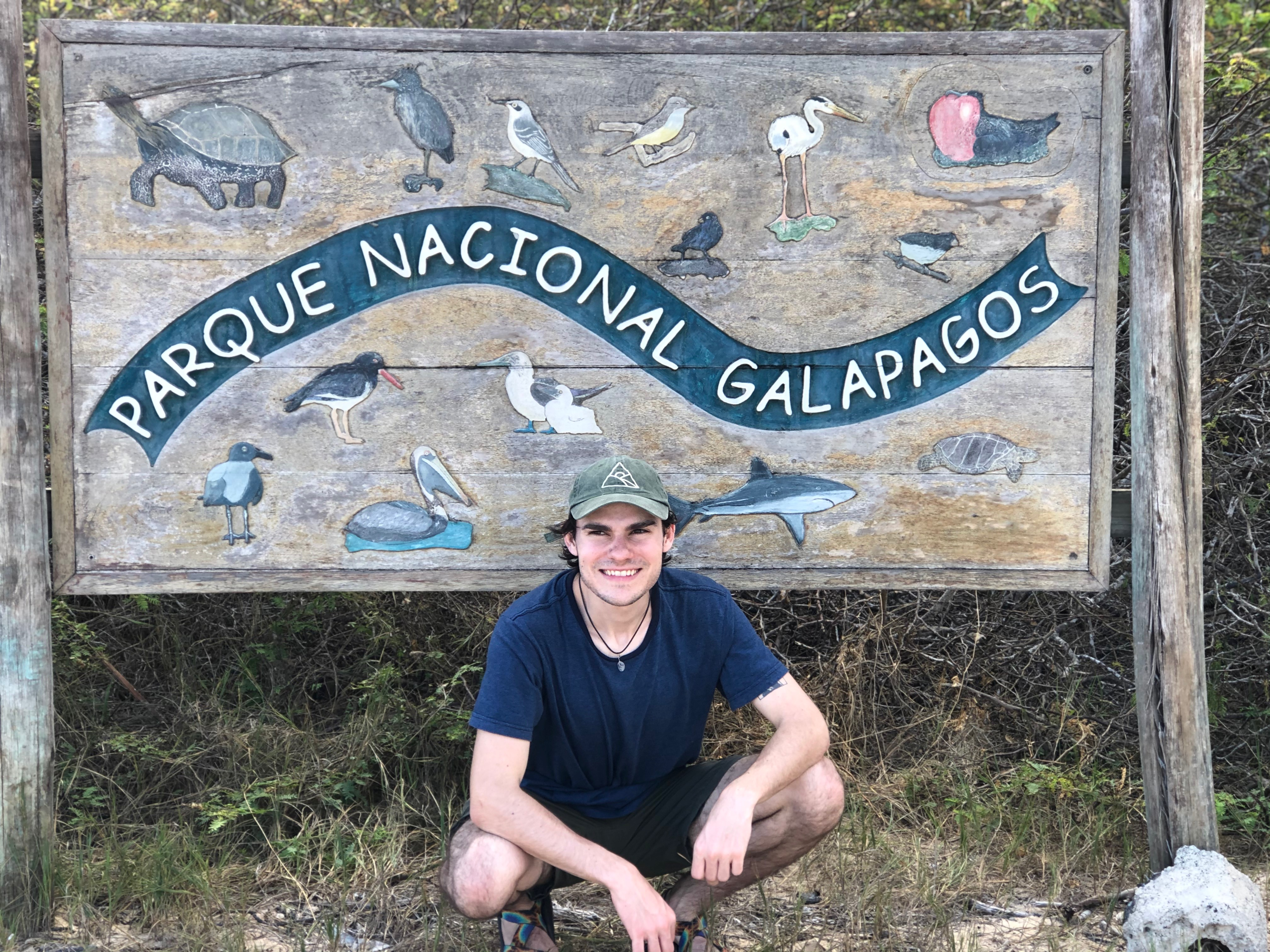Student in Galapagos Islands