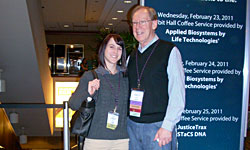 AAFS 2011 student with program director