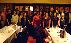 AAFS student group at dinner