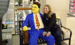 AAFS 2011 student with Lego Man