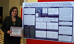 AAFS 2011 student with poster