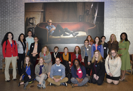 Students visit the Andy Warhol Museum