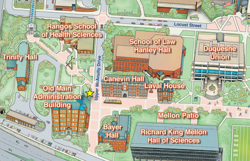 Campus Map showing Division Location