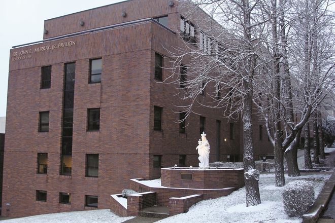 Murray pavilion in winter