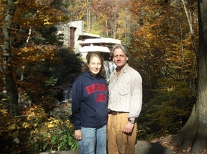 Prof. Junker and Student at Fallingwater