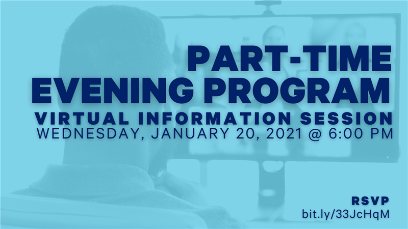 Part Time Evening Session on January 20