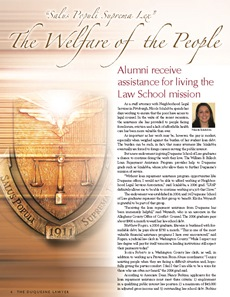 Loan Repayment Assistant Program article featured in the Duquesne Lawyer magazine