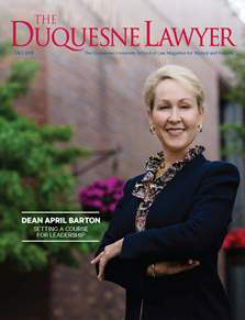 The Duquesne Lawyer Fall Issue Cover