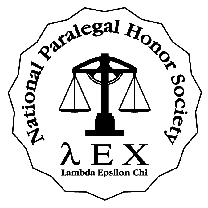 Graphic of the National Paralegal Honor Society (LEX) logo