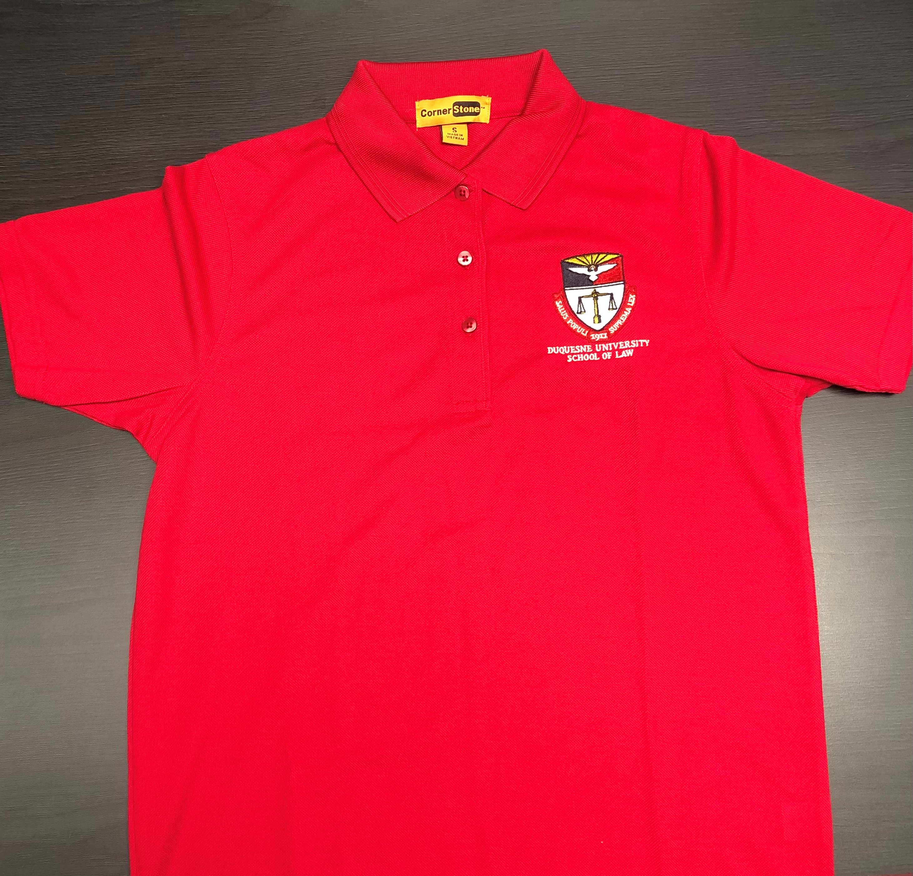 photo of the red polo shirt