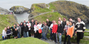 Photo of Duquesne University law students in Ireland