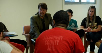 Dr. Conti teaching in the Allegheny County Jail