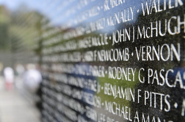 photo of the Vietnam Memorial