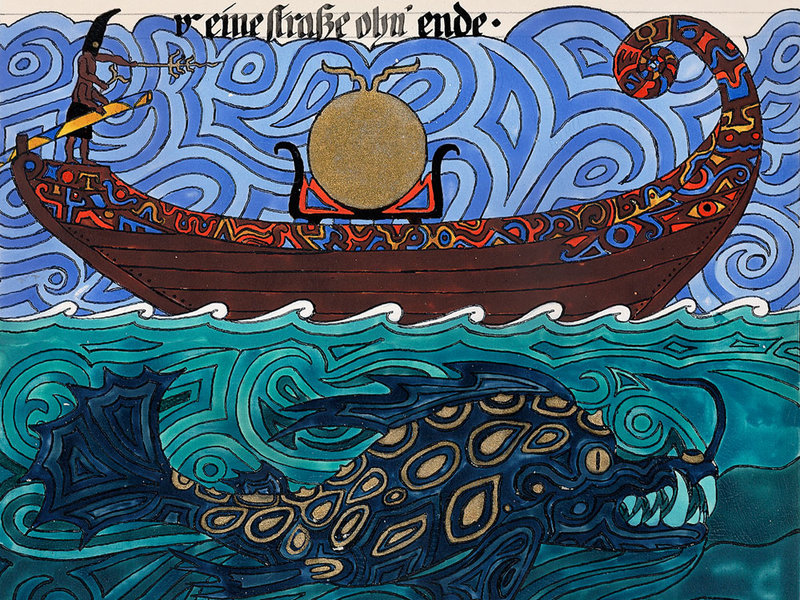 Carl Jung Sea Monster Painting