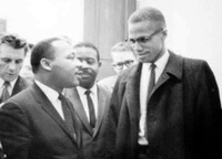 Photo of Dr. Martin Luther King Jr. and Malcolm X