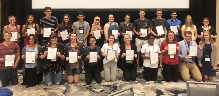 math/computer science students at MathFest 2019
