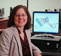 Image of Shelly Lukon at her workstation