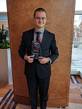 Photo David Berdik with award