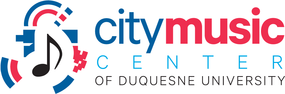 City Music Center of Duquesne University logo with music note