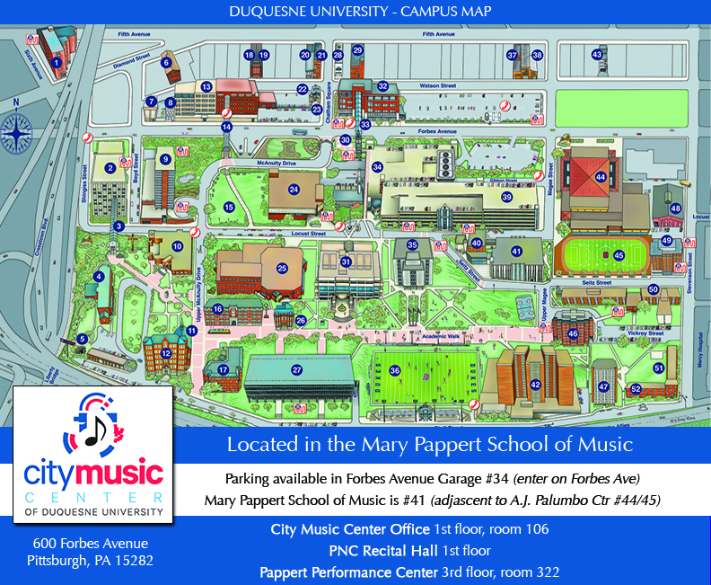 DU Campus Map - City Music Center detail