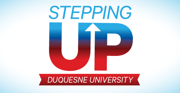 Stepping Up campaign graphic