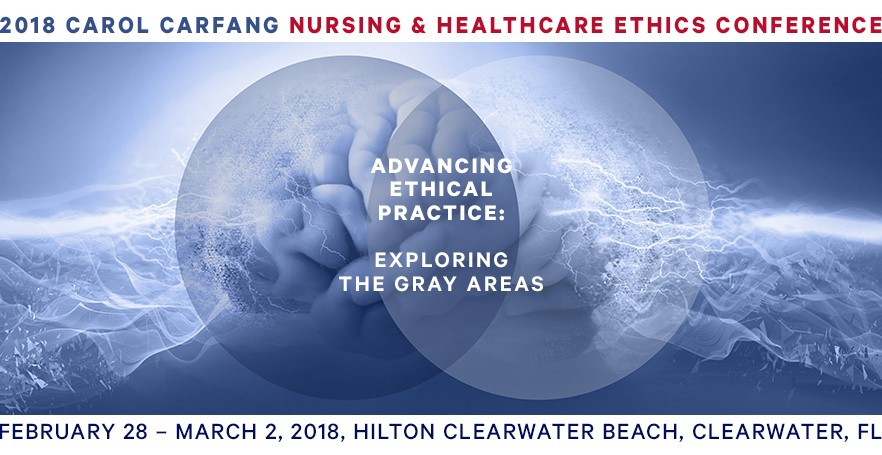 Logo for the 2018 Carol Carfang Nursing & Health Care Ethics Conference