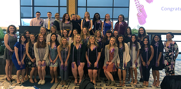 Photo of group of students inducted into Sigma Theta Tau