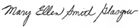 Mary Ellen Smith Glasgow's signature