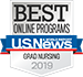 Logo for U.S. News & World Report Best Online Graduate Nursing Programs 2019