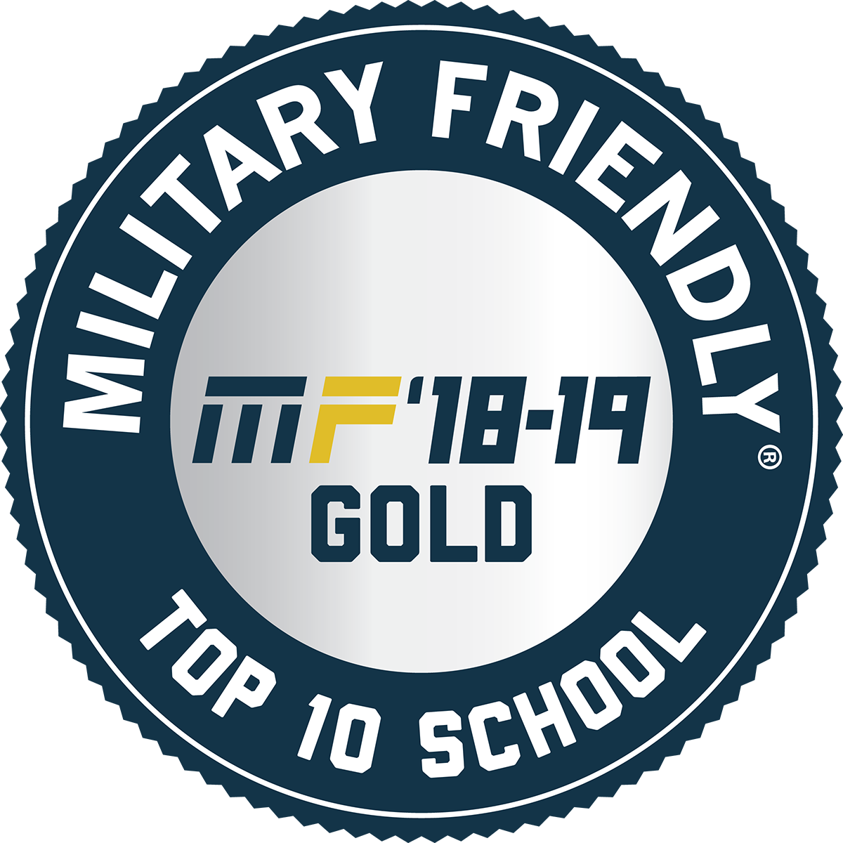 Military Friendly gold logo