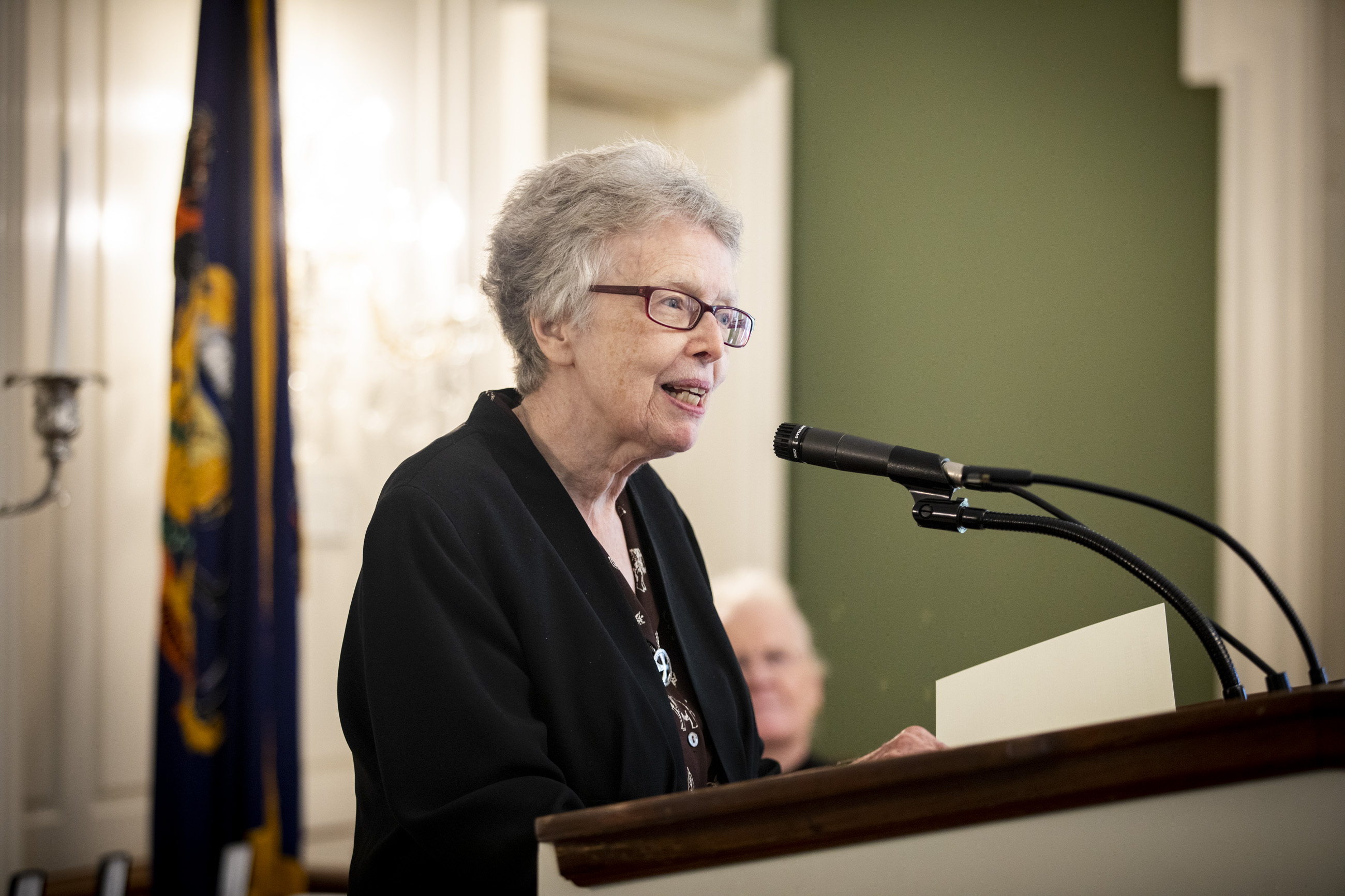 Image of Sr. Rosemary speaking at Distinguished Daughters of PA Award Ceremony