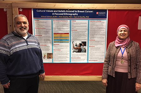 Photo of Dr. Rick Zoucha and Dr. Khlood Salman with poster