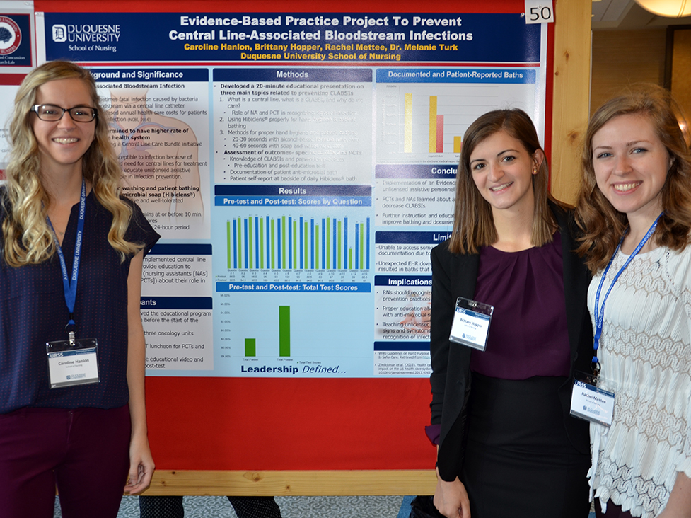 Photo of poster that won the School of Nursing Undergraduate Research Award