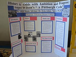 Photo of student poster