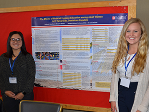 Photo of the Center for African Studies: Award for Undergraduate Research in Global Health winning poster