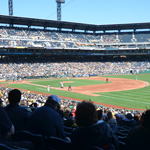 PNC park during a baseball game