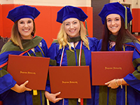 School of Pharmacy students at the 2018 Commencement Ceremony