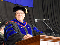 Dean Bricker at the 2018 Commencement Ceremony
