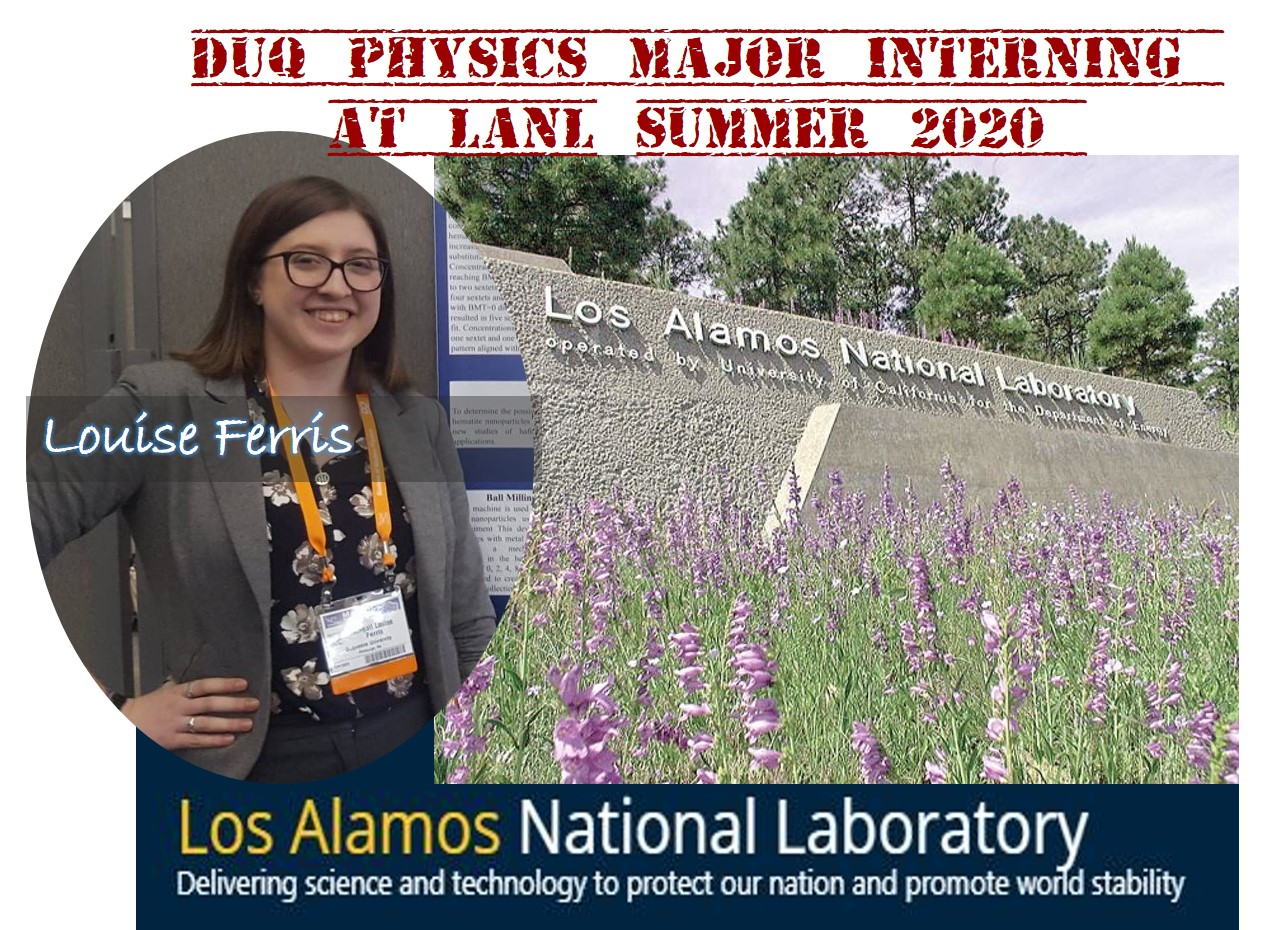 Louise Ferris SULI intern at Los Alamos National Lab