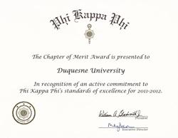 Chapter of Excellence Award Certificate