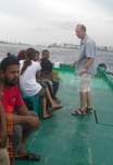Dan Curtiss training Red Cross personnel on a ship in the Maldives