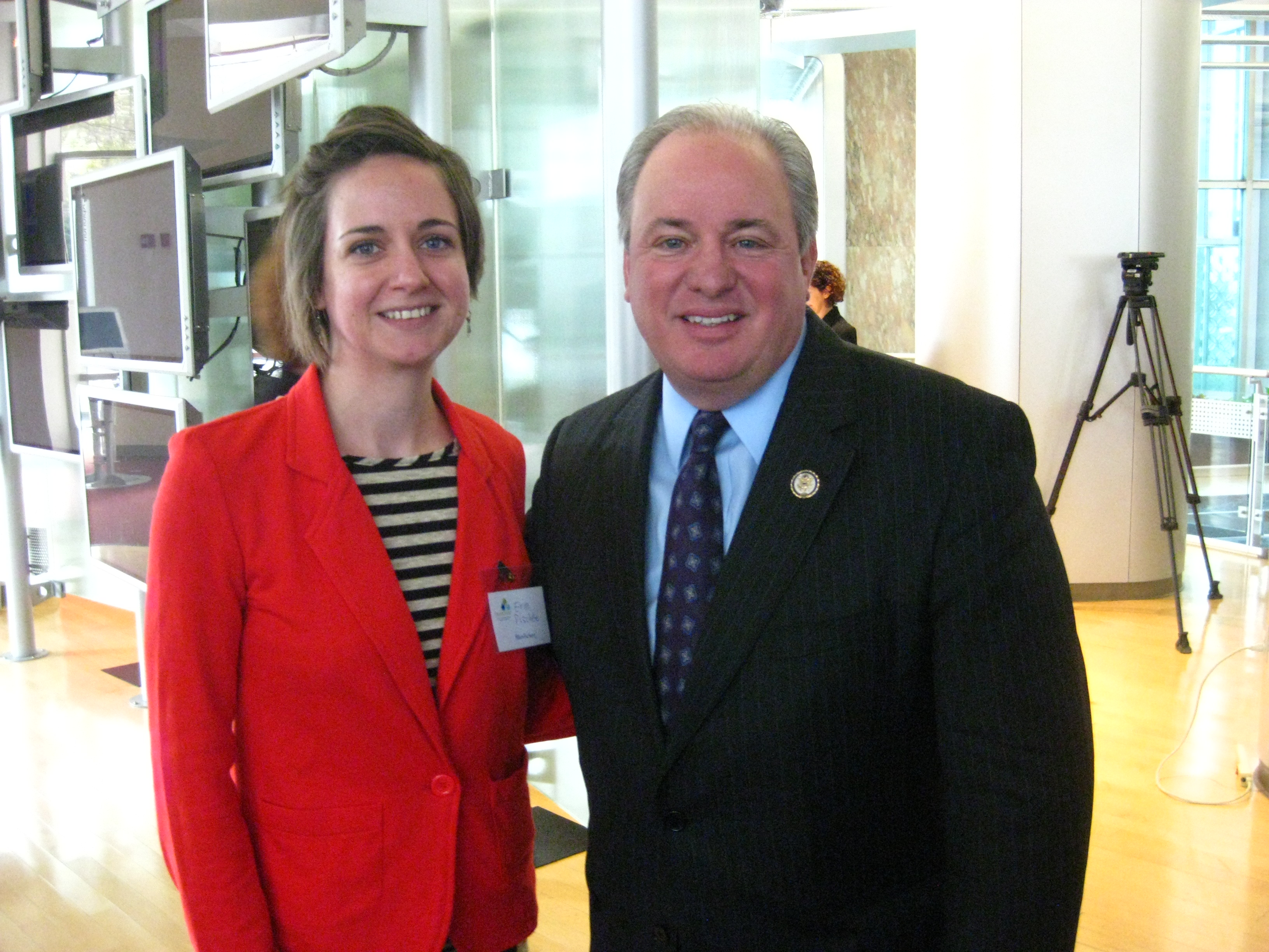Erini and Congressman Doyle