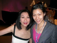 Jing Li with Connie Chung
