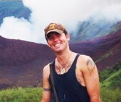 Steve McGinley as a Peace Corps volunteer in the mountains of Tonga