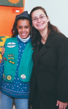 Iris Winter as a Peace Corps Fellow with the Girl Scouts