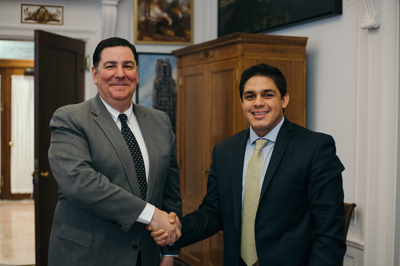 Sebastian Narvaez Medina  Sebastian interned at the offices of Pittsburgh Mayor William Peduto
