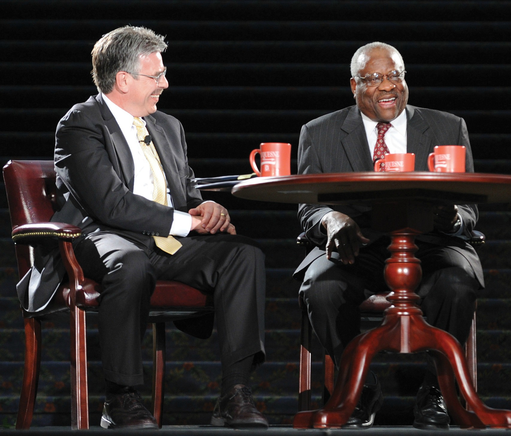 President Gormley with Supreme Court Justice Clarence Thomas