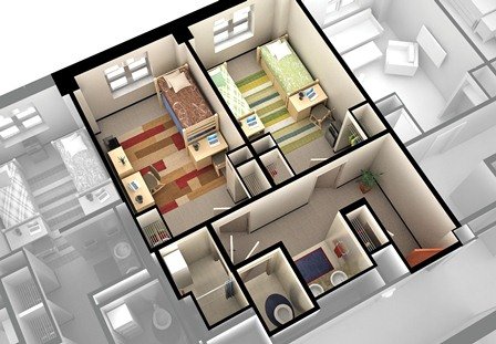 two bedroom design