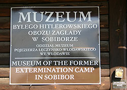 Photo of a Sobibor Museum Sign